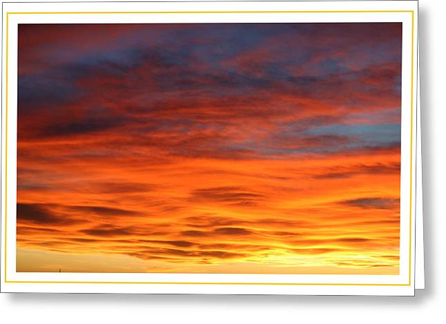 Sunset Framed Prints Greeting Cards - Las Cruces Sunset Greeting Card by Jack Pumphrey