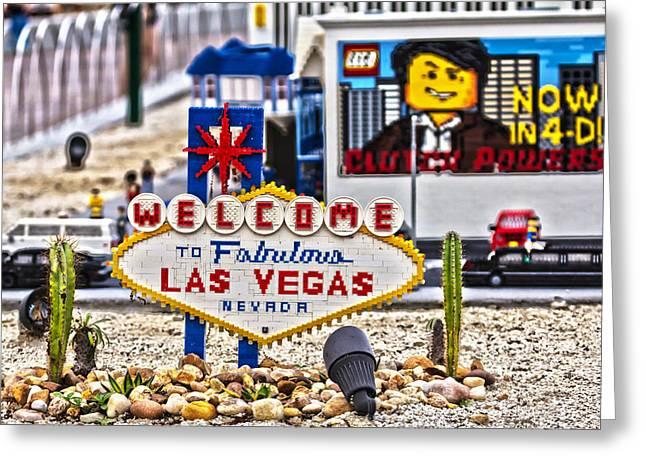 Las Legos Greeting Card by Nicholas Evans