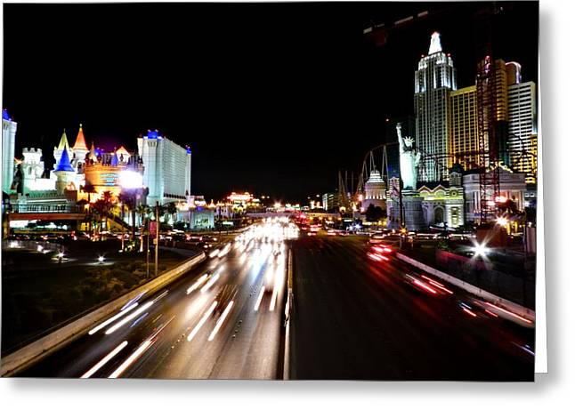 Hotels Greeting Cards - Las Vegas 043 Greeting Card by Lance Vaughn