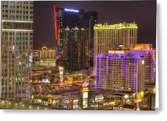 Las Vegas Nevada Greeting Card by Nicholas  Grunas