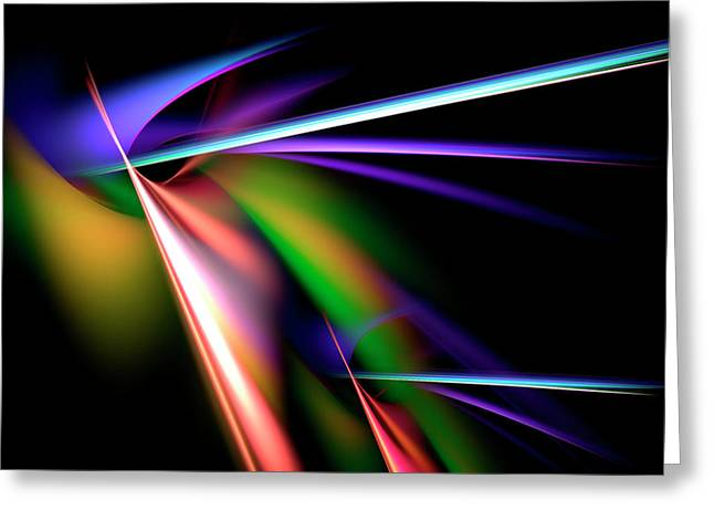 Energize Greeting Cards - Laser Light Show Greeting Card by Carolyn Marshall