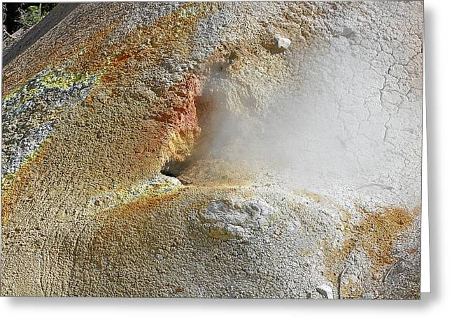 Recently Sold -  - Unique Art Greeting Cards - Lassen Volcanic National Park - Living museum of vulcanism Greeting Card by Christine Till