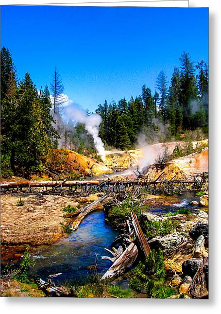 S Landscape Photography Greeting Cards - Lassen Volcanic National Park Devils Kitchen Greeting Card by Scott McGuire