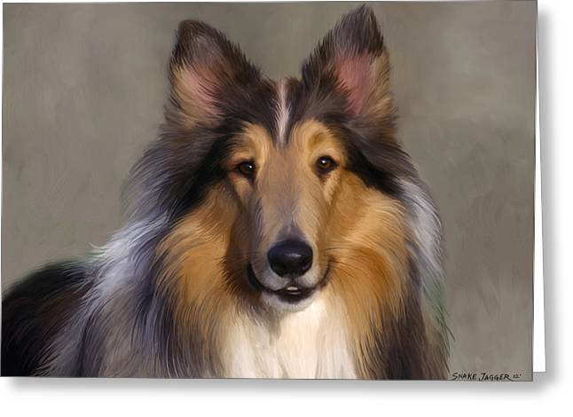 Lassie Come Home Greeting Card by Snake Jagger