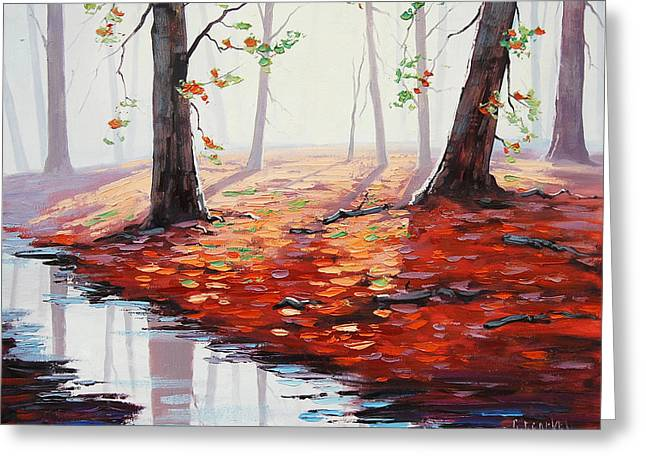 Fall Trees Greeting Cards - Last Autumn days Greeting Card by Graham Gercken