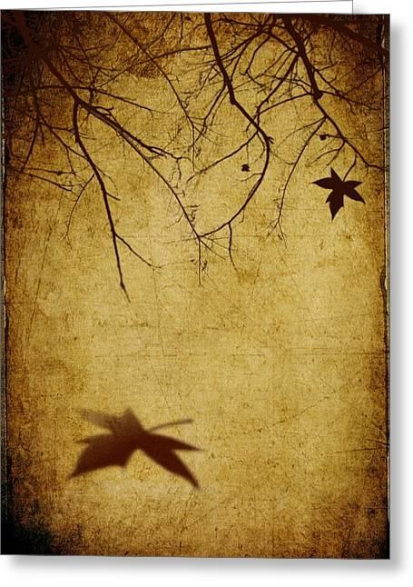 Creepy Mixed Media Greeting Cards - Last Breath of Autumn Greeting Card by Svetlana Sewell