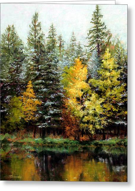 Reflections Pastels Greeting Cards - Last Call Greeting Card by Mary Giacomini