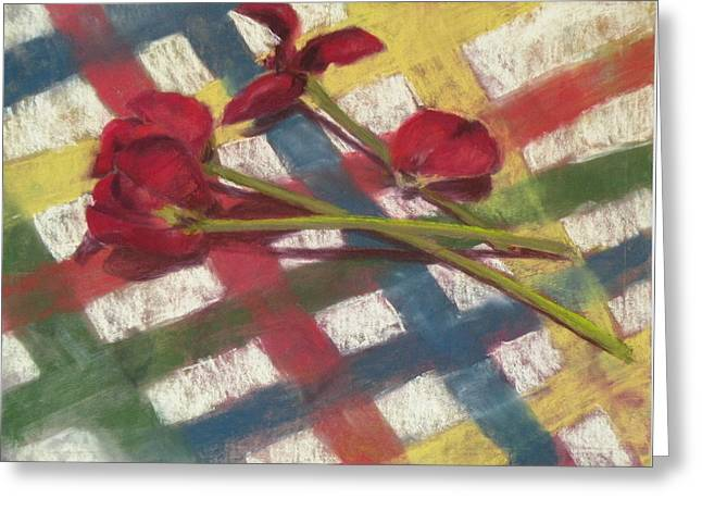 Table Pastels Greeting Cards - Last Cut Greeting Card by Jo Ann Sullivan