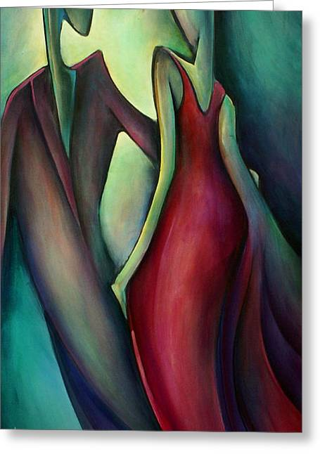 Evening Dress Greeting Cards - Last Dance Greeting Card by Michael Lang