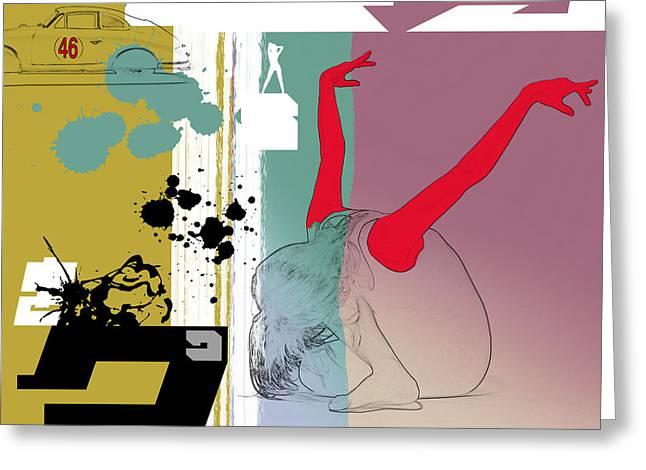 Dancing Greeting Cards - Last Dance Greeting Card by Naxart Studio