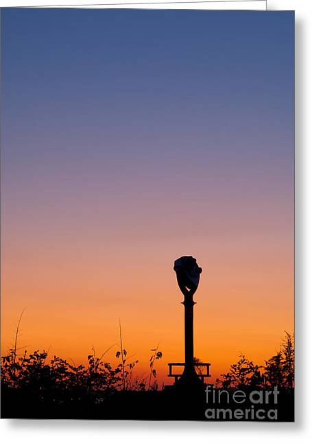 Sunset Greeting Cards Greeting Cards - Last Glimpse of the Day Greeting Card by John Pattenden
