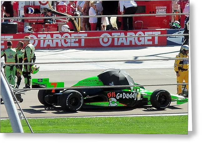 Danica Patrick Greeting Cards - Last Indy race Greeting Card by Trenton Heckman