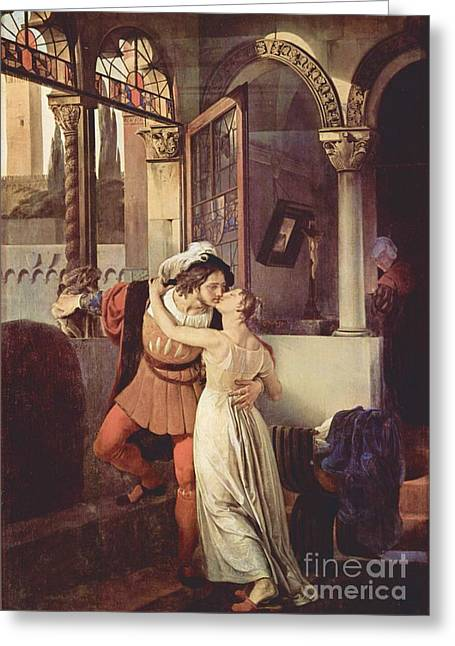 Hayez Greeting Cards - Last Kiss of Romeo and Juliet Greeting Card by Pg Reproductions
