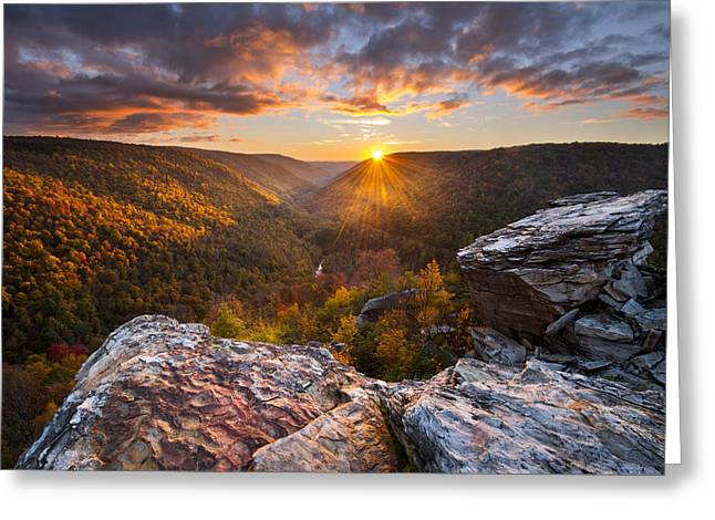 Autumn Prints Photographs Greeting Cards - Last Light at Lindy Point Greeting Card by Joseph Rossbach