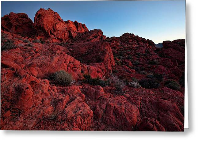 Nevada Greeting Cards - Last Light in Valley of Fire Greeting Card by Rick Berk