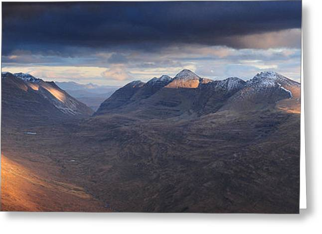 Torridon Greeting Cards - Last Light Liathach Greeting Card by Stewart Smith