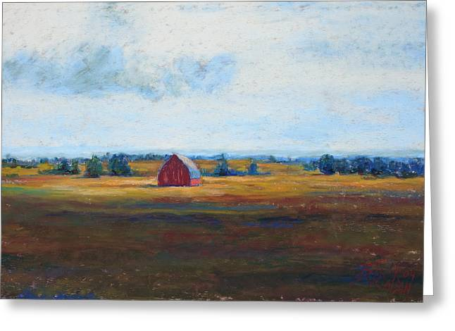 Barn Pastels Greeting Cards - Last Light of Day Greeting Card by Billie Colson