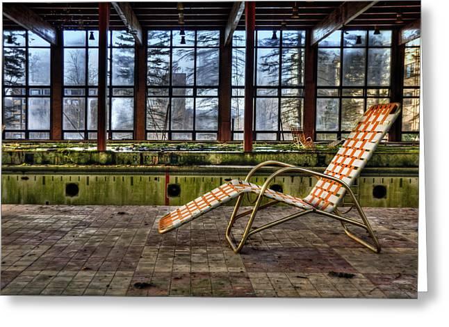 Lounge Chairs Greeting Cards - Last Resort Greeting Card by Evelina Kremsdorf