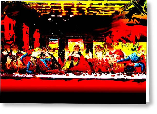 Last Supper Greeting Cards - Last Supper 1 Greeting Card by Piety Dsilva