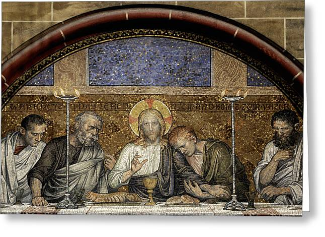Best Sellers -  - Holy Week Greeting Cards - Last Supper of Christ Greeting Card by Adrian Hancu