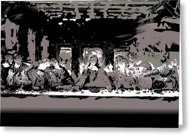 Last Supper Greeting Cards - Last Supper Greeting Card by Piety Dsilva