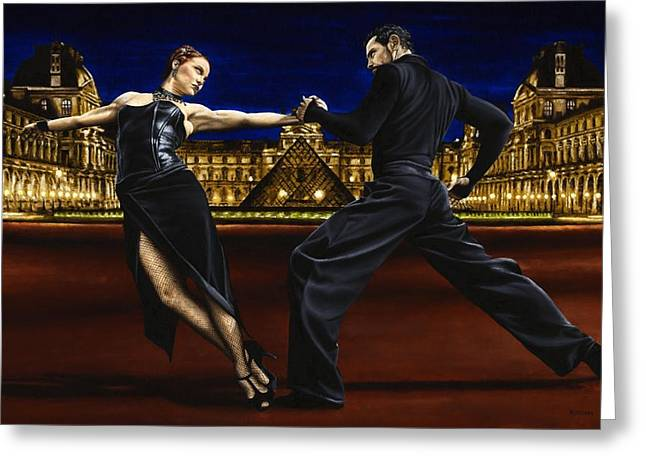 Black Dress Greeting Cards - Last Tango in Paris Greeting Card by Richard Young
