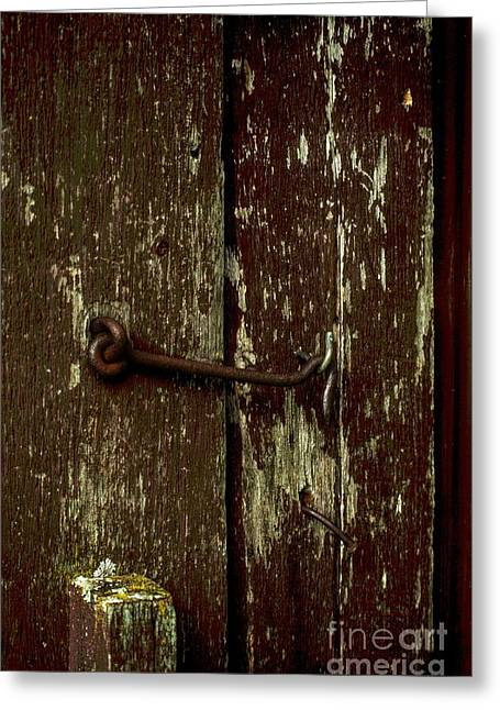 Barn Door Digital Greeting Cards - Latch Greeting Card by The Stone Age