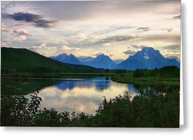 Oxen Framed Prints Greeting Cards - Late Afternoon In The Tetons Greeting Card by Steven Ainsworth