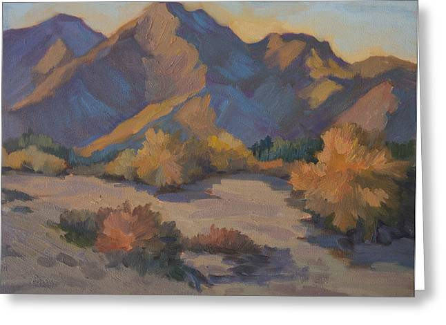 Afternoon Light Greeting Cards - Late Afternoon Light in La Quinta Cove Greeting Card by Diane McClary