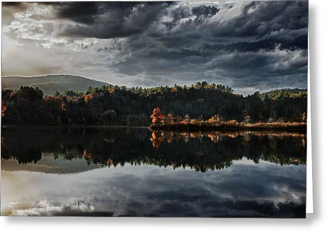 Nathan Larson Greeting Cards - Late Fall Light Greeting Card by Nathan Larson