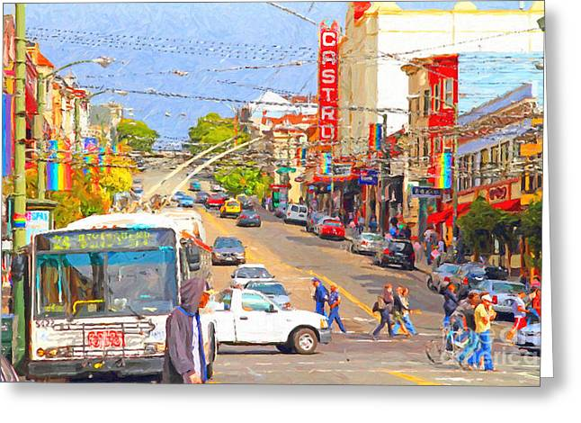 Eureka Valley Greeting Cards - Late Morning Early Autumn In The Castro In San Francisco Greeting Card by Wingsdomain Art and Photography