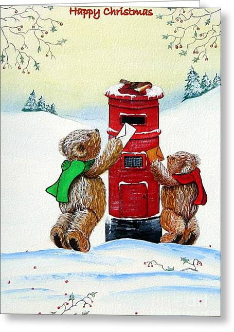 Happy Hog Greeting Cards - Late Post Greeting Card by Gordon Lavender