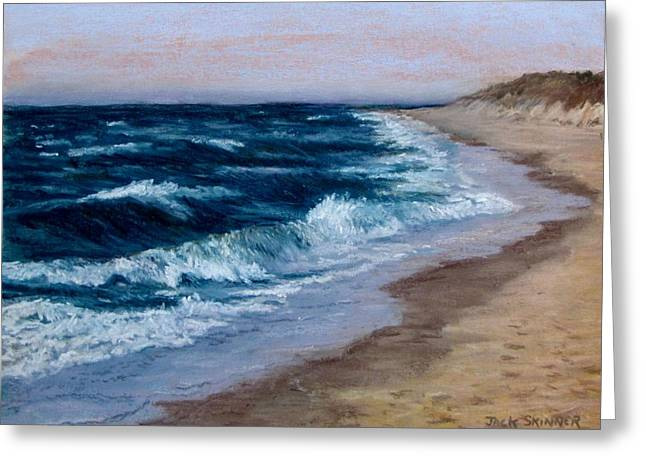 East Dennis Pastels Greeting Cards - Late Spring at Cold Storage Beach Greeting Card by Jack Skinner