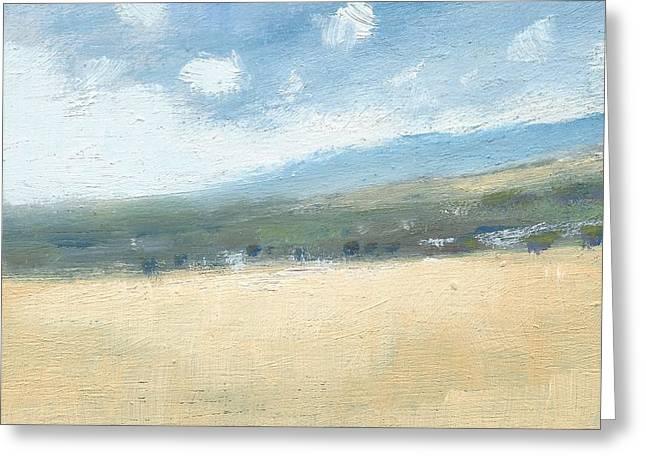 Late Summer Cornfields Greeting Card by Alan Daysh
