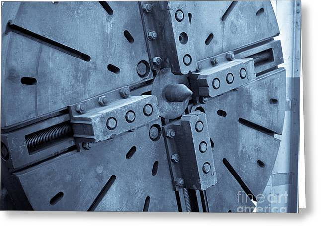 Manufacturing Greeting Cards - Lathe Faceplate Greeting Card by John Buxton