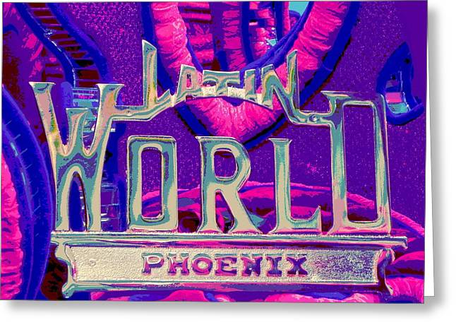 Tricked-out Cars Greeting Cards - Latin World Greeting Card by Chuck Re