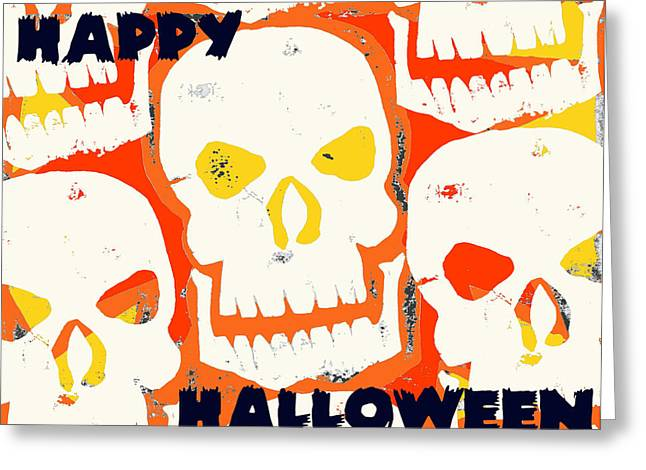 Jame Hayes Greeting Cards - Laughing Skull Greeting Card by Jame Hayes