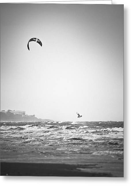 Kite Surfing Greeting Cards - Launching Greeting Card by Steven Llorca