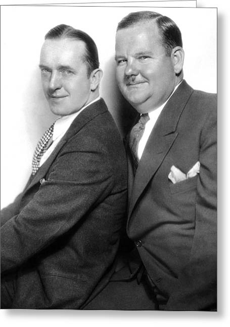 Laurel And Hardy Greeting Cards - LAUREL AND HARDY, c1930 Greeting Card by Granger