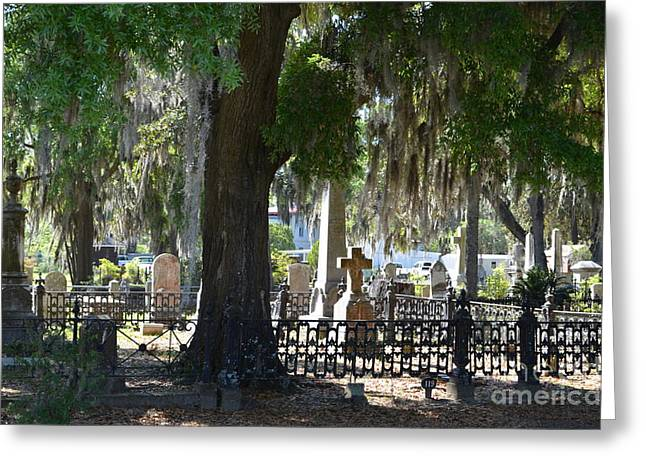 Final Resting Place Greeting Cards - Laurel Grove Cemetery - Savannah Georgia Greeting Card by Randy Edwards