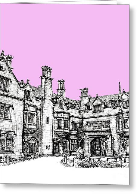 Wedding Gift Ideas Greeting Cards - Laurel Hall in pink Greeting Card by Building  Art