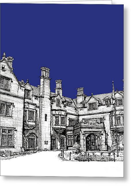 Registry Greeting Cards - Laurel Hall royal blue Greeting Card by Building  Art
