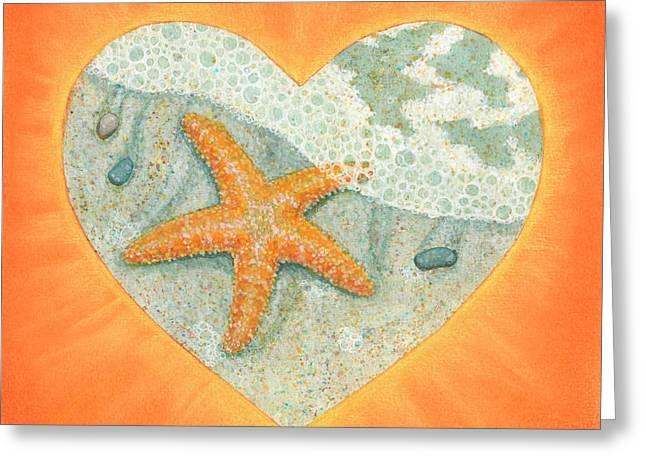 Heart Pastels Greeting Cards - Lauren Greeting Card by Lisa Kretchman