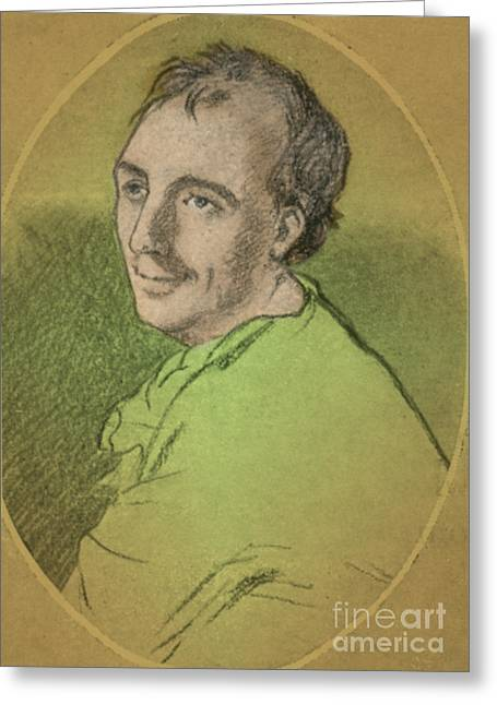 Laurence Greeting Cards - Laurence Eusden, English Poet Laureate Greeting Card by Photo Researchers