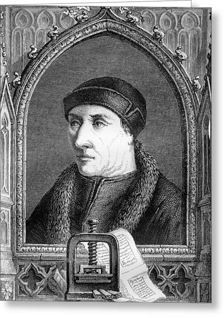 1300s Greeting Cards - Laurens Janszoon Coster, Dutch Printer Greeting Card by