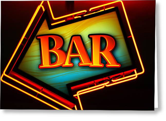 Bars Greeting Cards - Laurettes Bar Greeting Card by Barbara Teller