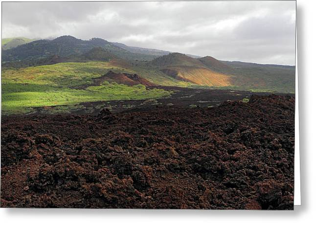 Perouse Greeting Cards - Lava flow Maui Greeting Card by Pierre Leclerc Photography