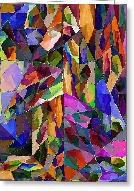 Algorithmic Abstract Greeting Cards - Lava Lamp Greeting Card by Kerry Mitchell