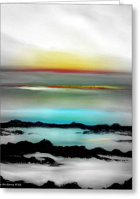 Sunset Posters Greeting Cards - Lava Rock Sunset Greeting Card by Gina De Gorna