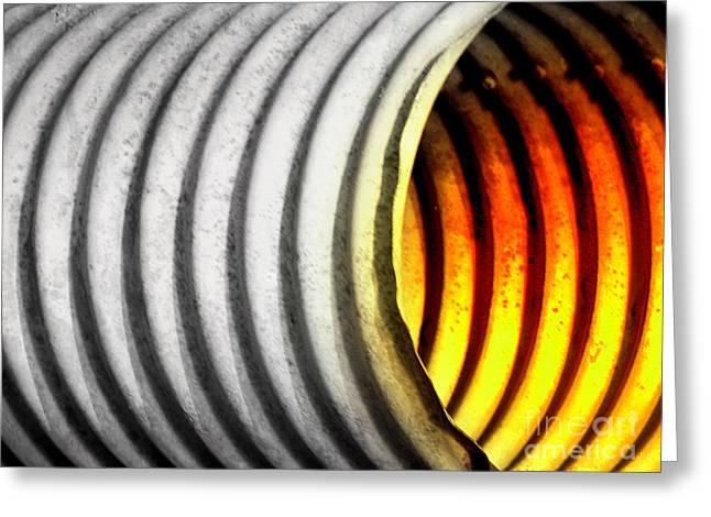 Op Art Photographs Greeting Cards - Lava Tube Greeting Card by Joe Jake Pratt